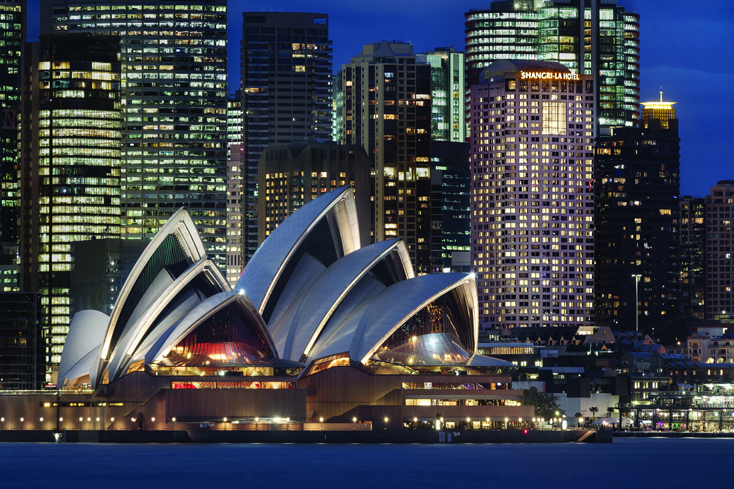 Shangri-La Hotel, Sydney is located in the historic Rocks District within close proximity to the Sydney Opera House and Harbour Bridge.