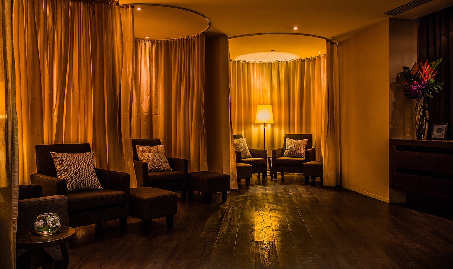 The spa's relaxation lounge.