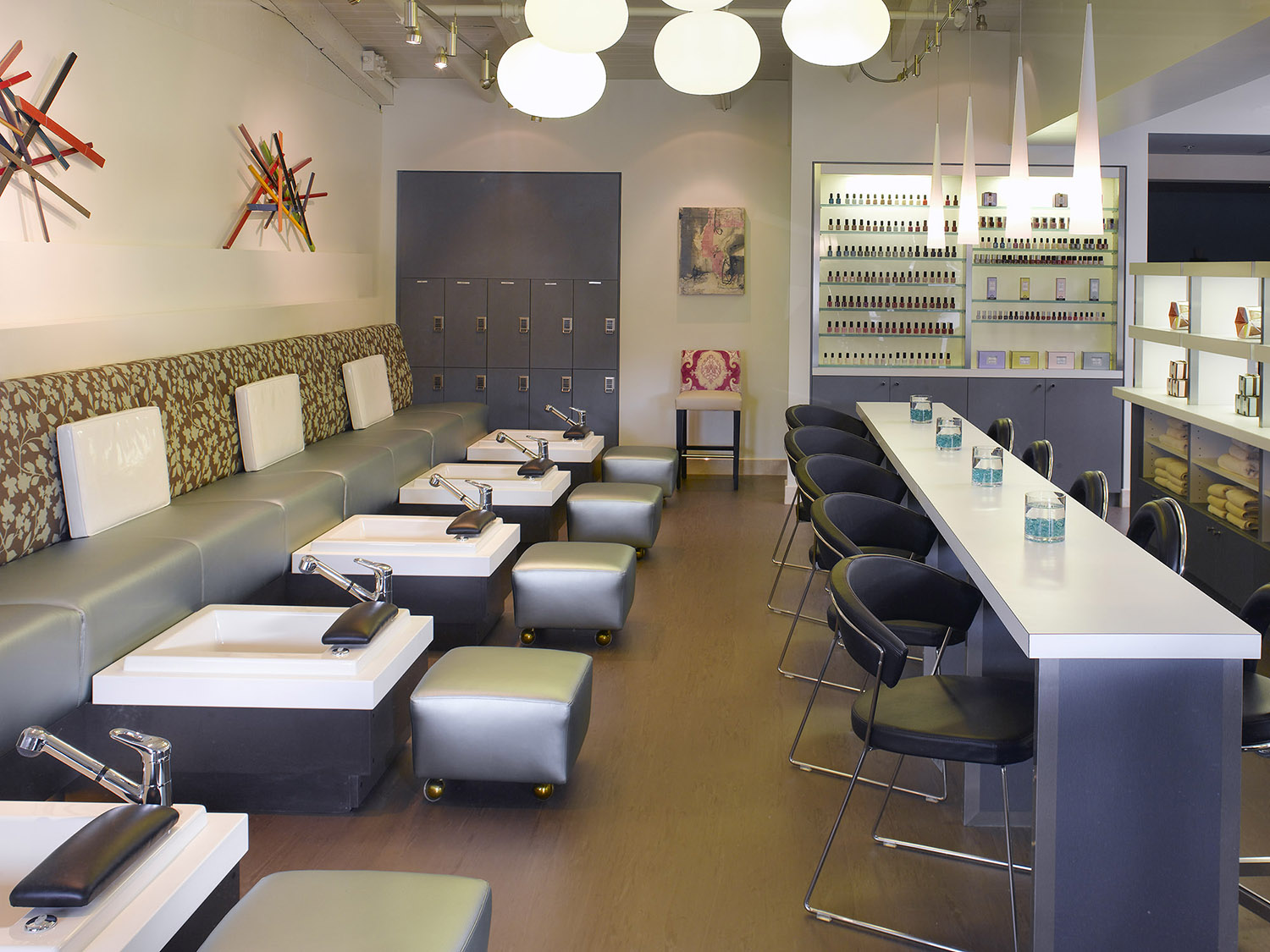 The mani/pedi room at the Town & Country location.