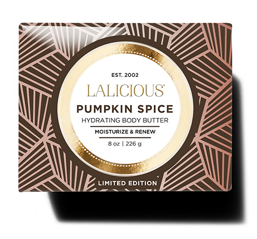 Rejuvenate dry skin with LALICIOUS' limited-edition Pumpkin Spice Hydrating Body Butter ($34).