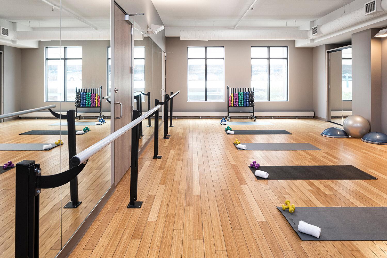 The fitness studio.