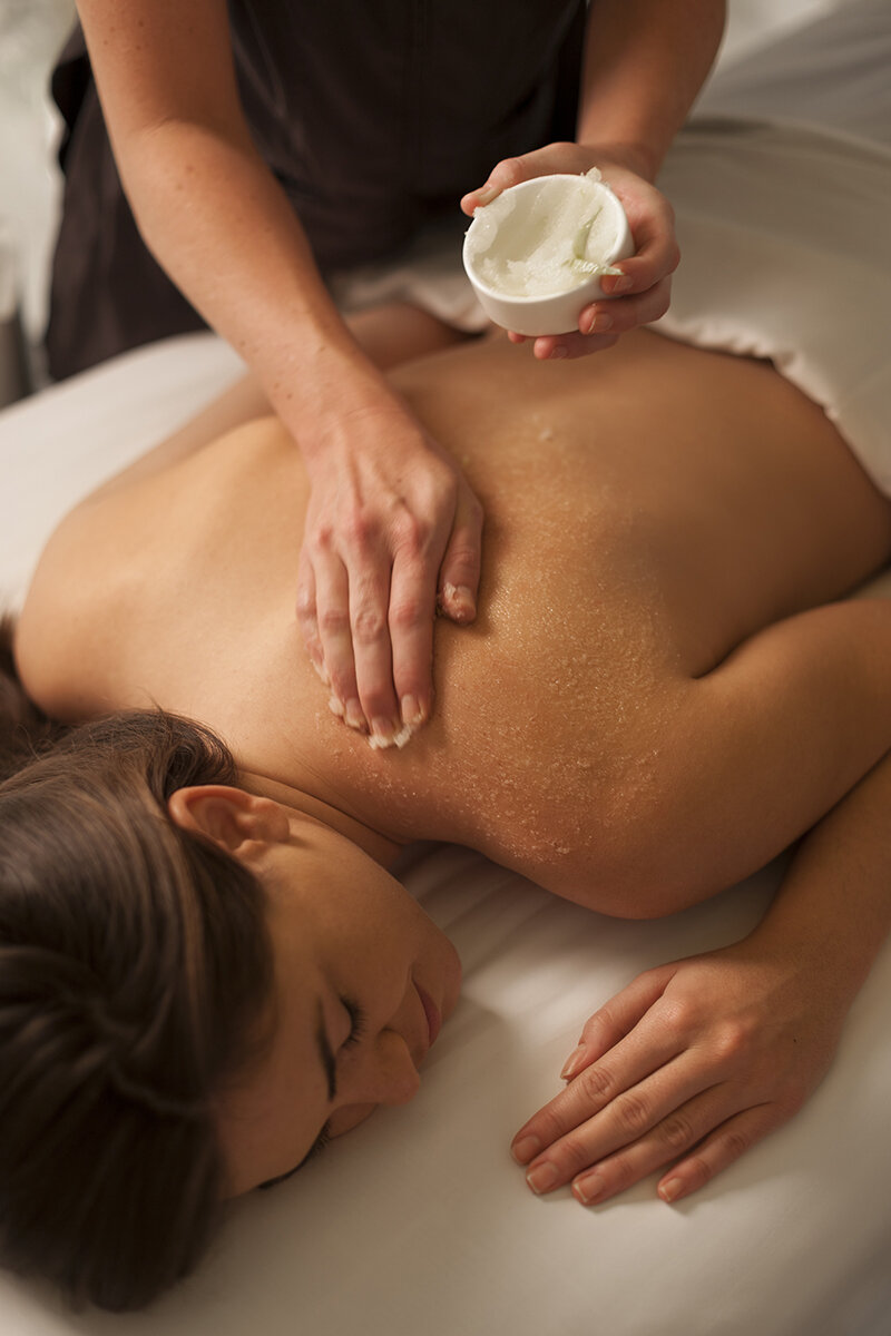 Signature rituals like the Champagne & Shimmer Body Treatment enhance a full spa menu of treatments and therapies.