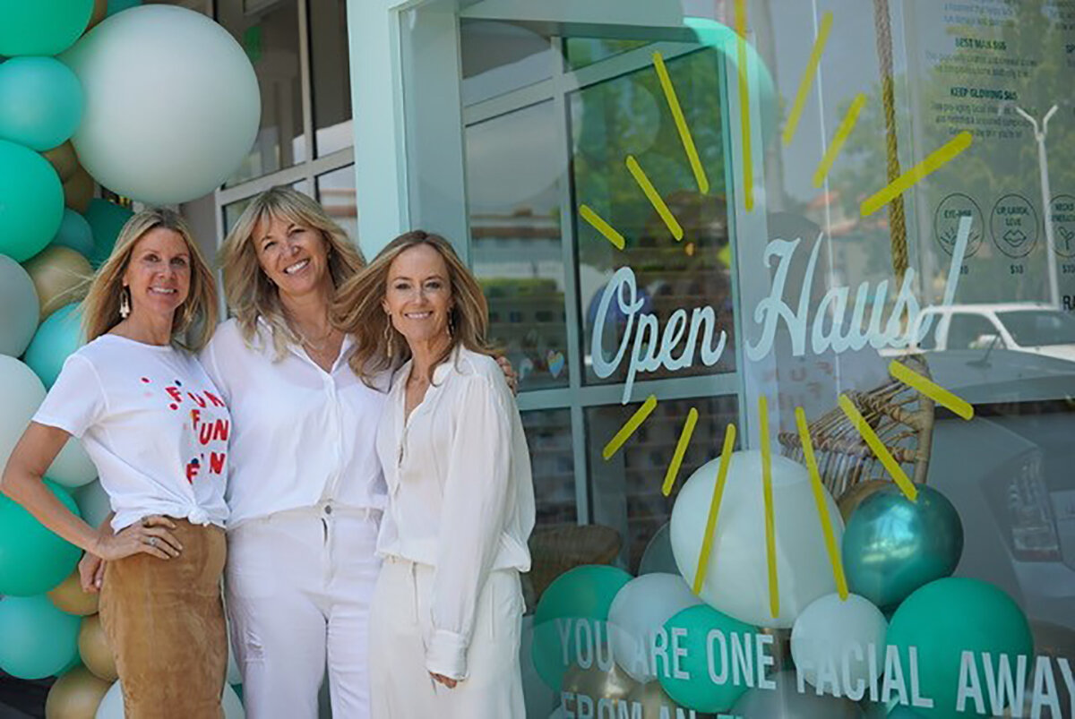 From left to right: Face Haus Co-Founders Dawn Olmstead, Jennifer Worley and Karey Burke.
