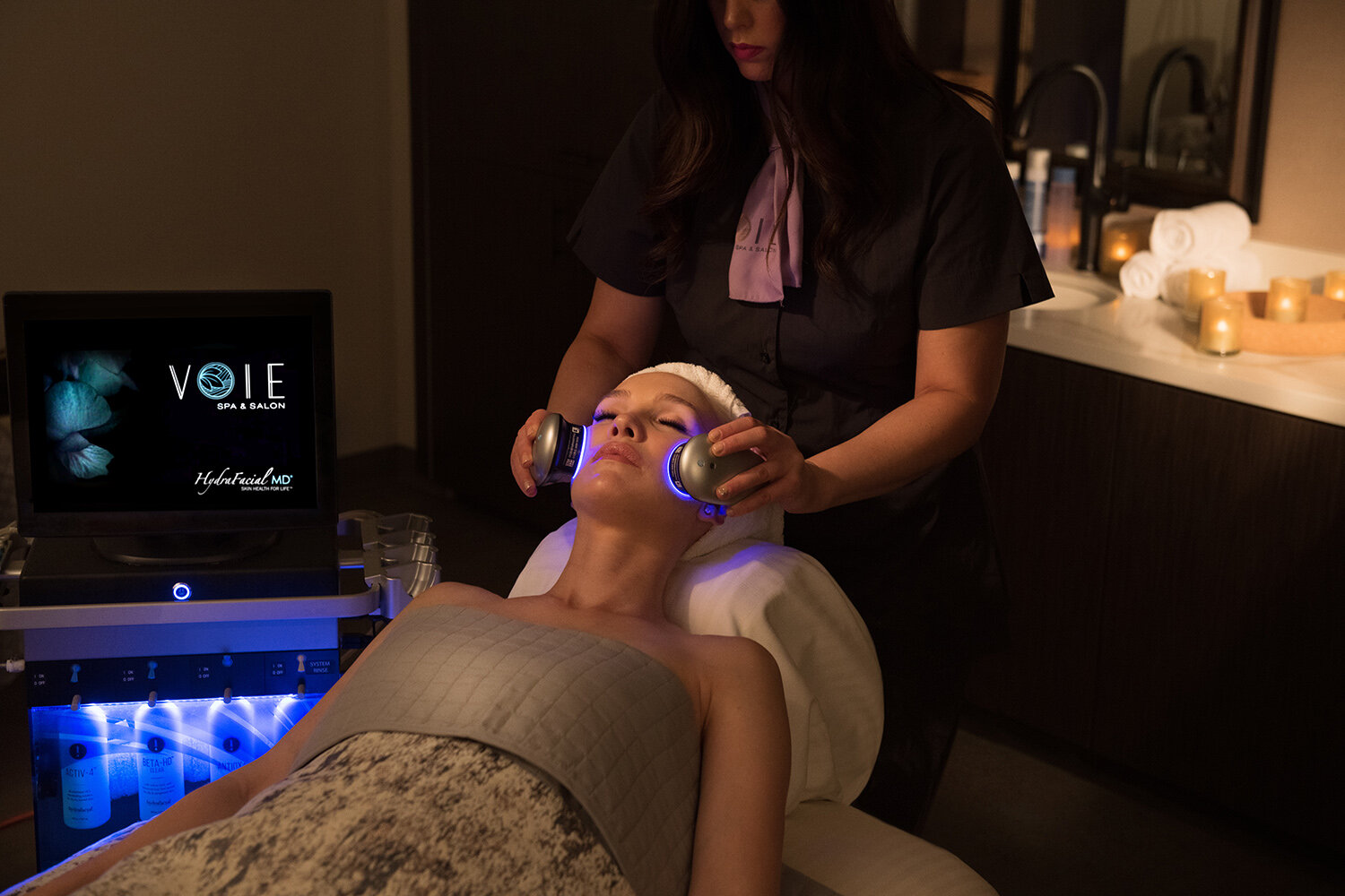 Voie Spa & Salon offers a wide range of treatments including Codage facials and wine mask treatments from France, and hydra-cleansing treatments tailored to individual needs.
