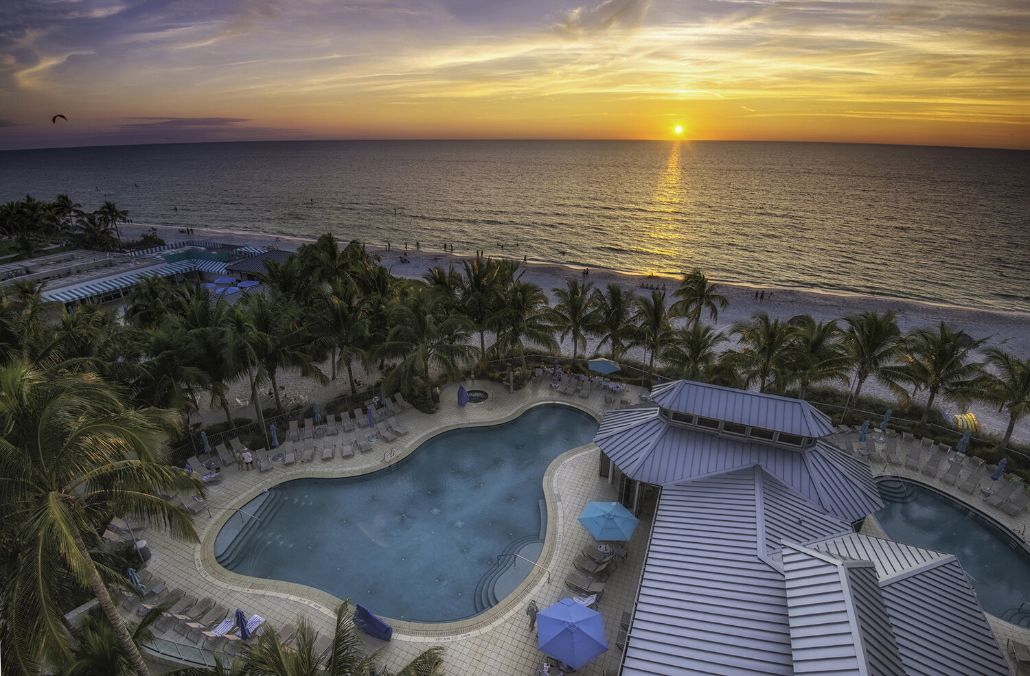Designed in classic Florida style, the resort includes a beachfront pool complex with two pools.