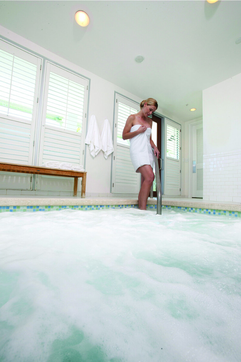 Relaxing spa amenities include the jacuzzi whirlpool.