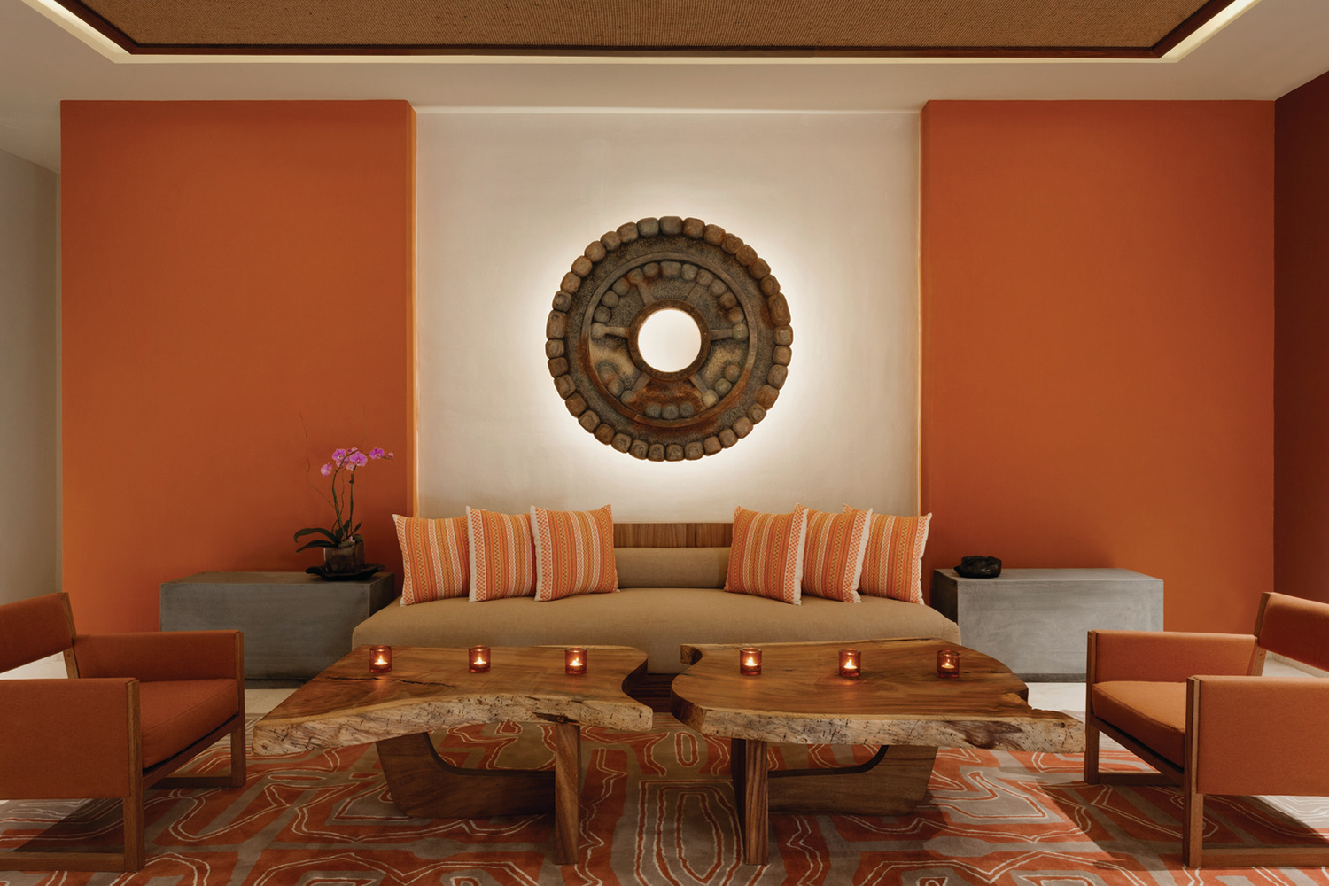 The spa's waiting area.