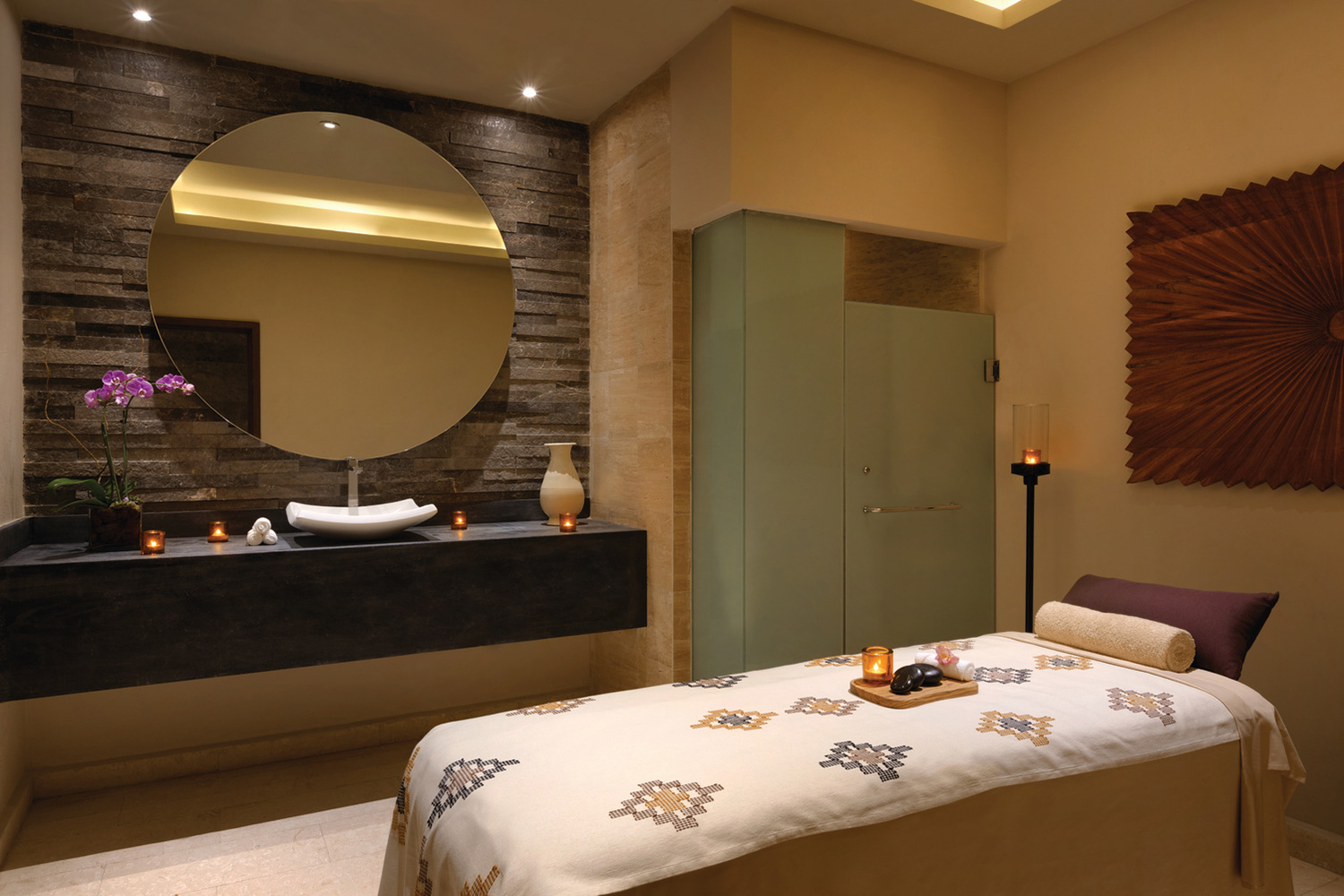 Zen Spa features a combination of exotic therapies, treatments, and philosophies from around the world.
