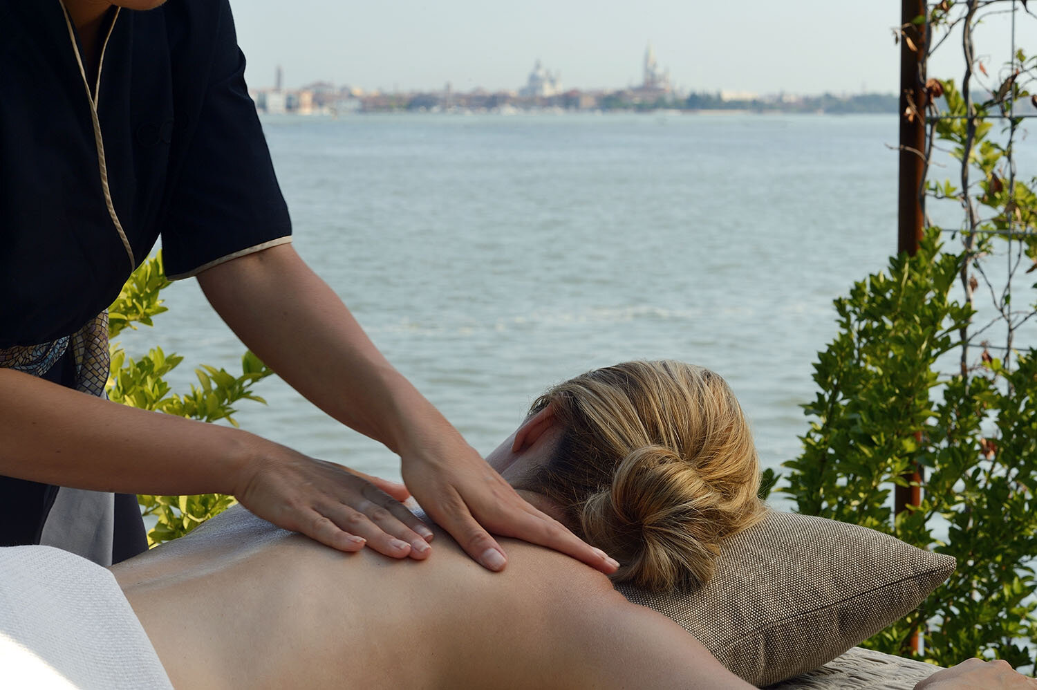 Guests of the spa can enjoy the Olive Oil Treatment, which uses oil oil for a nourishing and radiant glow.