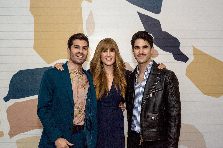 Onekind founders Matthew and Madison Ruggier, and Darren Criss.