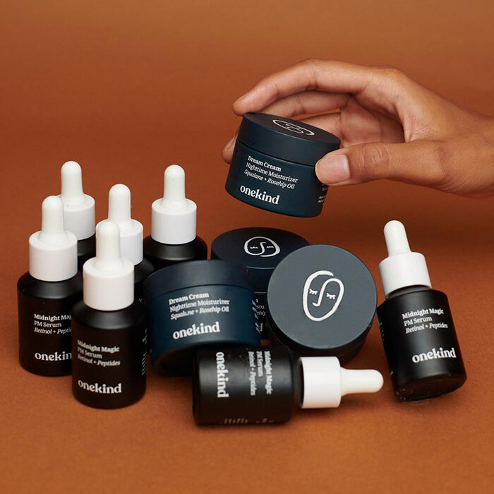 Onekind debuted on October 1 with two skincare products for nighttime.