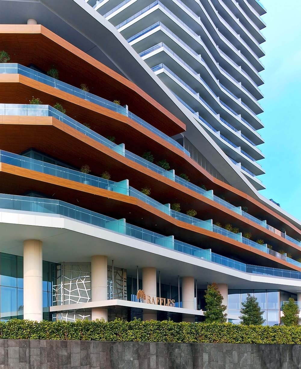 Raffles Istanbul is located at the city's Zorlu Center, a modern shopping and entertainment complex situated above Istanbul's Bosphorus.