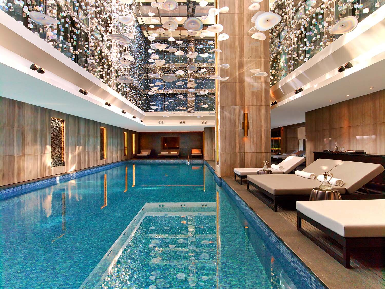 Raffles Spa at Raffles Istanbul has a stunning indoor pool.