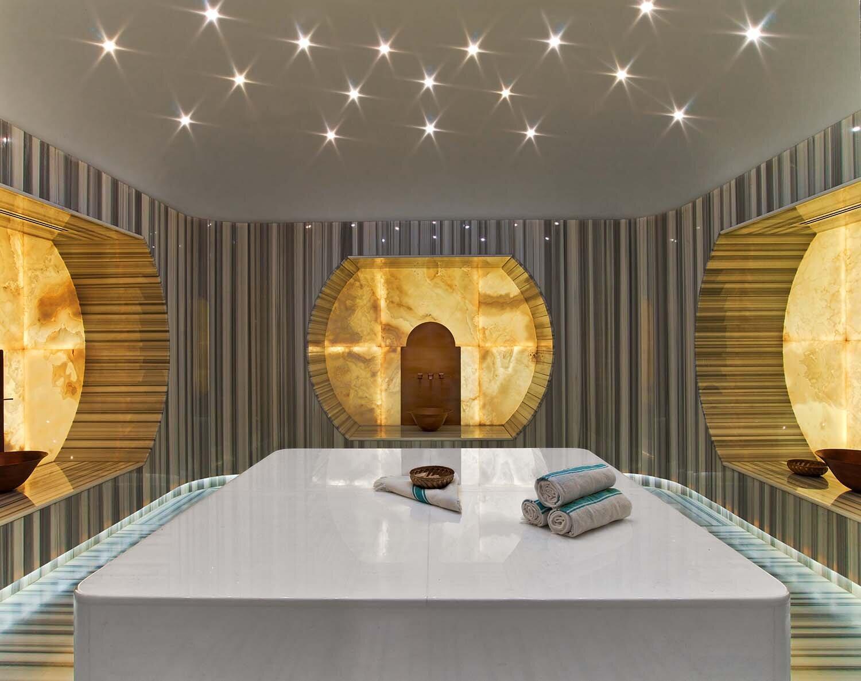 The spa also has three Turkish Hammams.