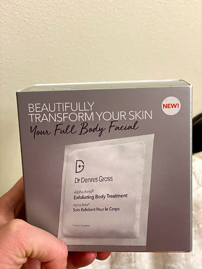 Week 8 of Weekly Wellness: A Full-Body Acid Peel with Dr. Dennis Gross Skincare