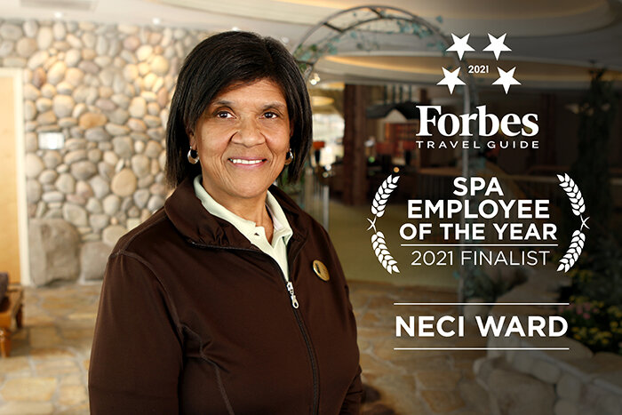 Neci Ward, Finalist for Forbes Travel Guide's 2021 Spa Employee of the Year, Shares Hospitality Tips and More