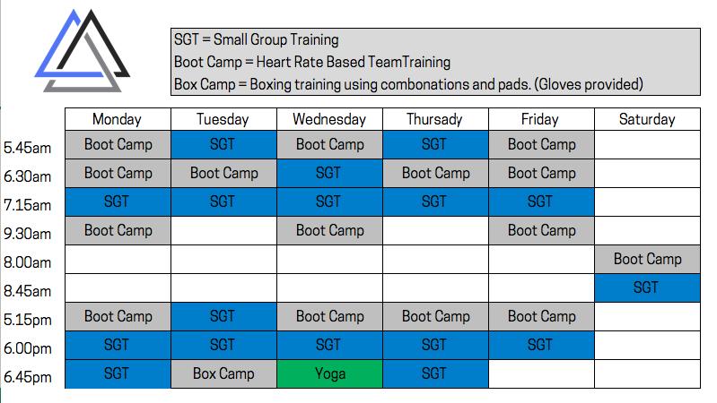 October Timetable at Invigorate Te Atatu Gym