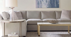 light gray couch - monochromatic color scheme