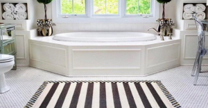 white bathroom - monochromatic interior design