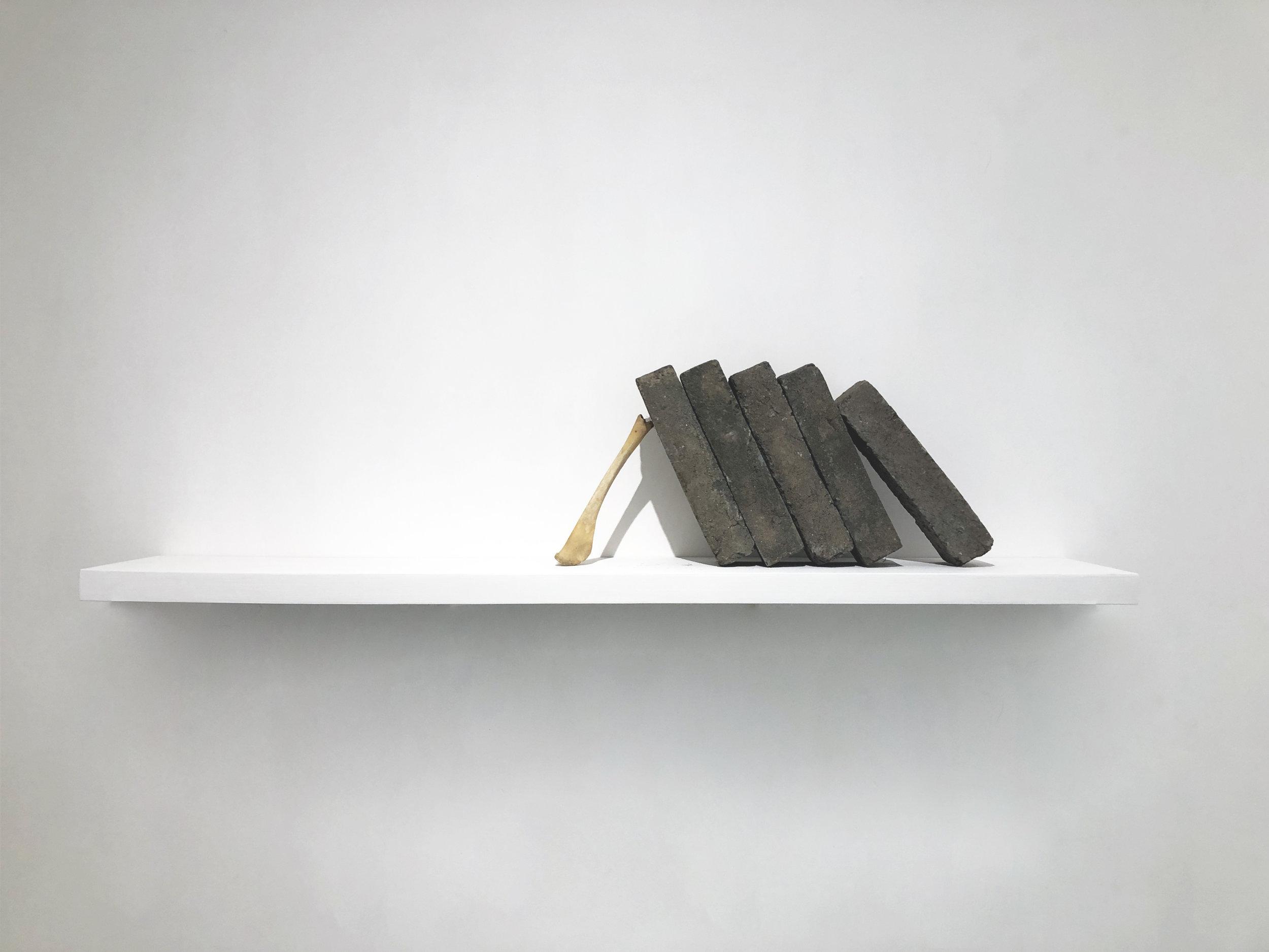 Xiao Yu, Landscape No. 5, Brick, Animal Bones, Dimension Variable, 2011