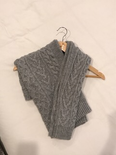 -Fold the arm portion over  -Voilà! No more bumps, no more sagging sweaters