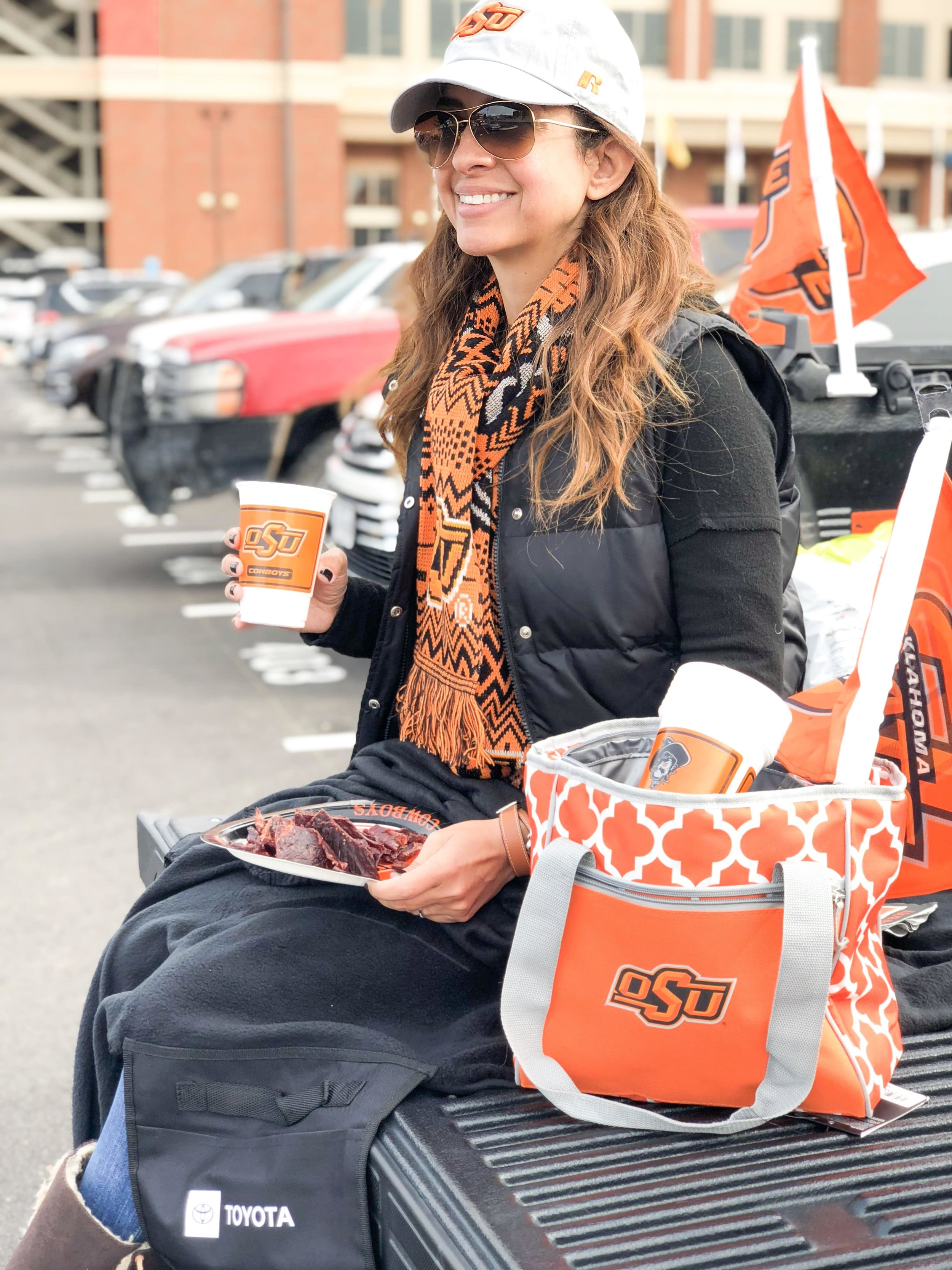 A great time tailgating at the OSU vs West Virginia football game in Stillwater, OK (Photo Credit: Neaka Khalilian)