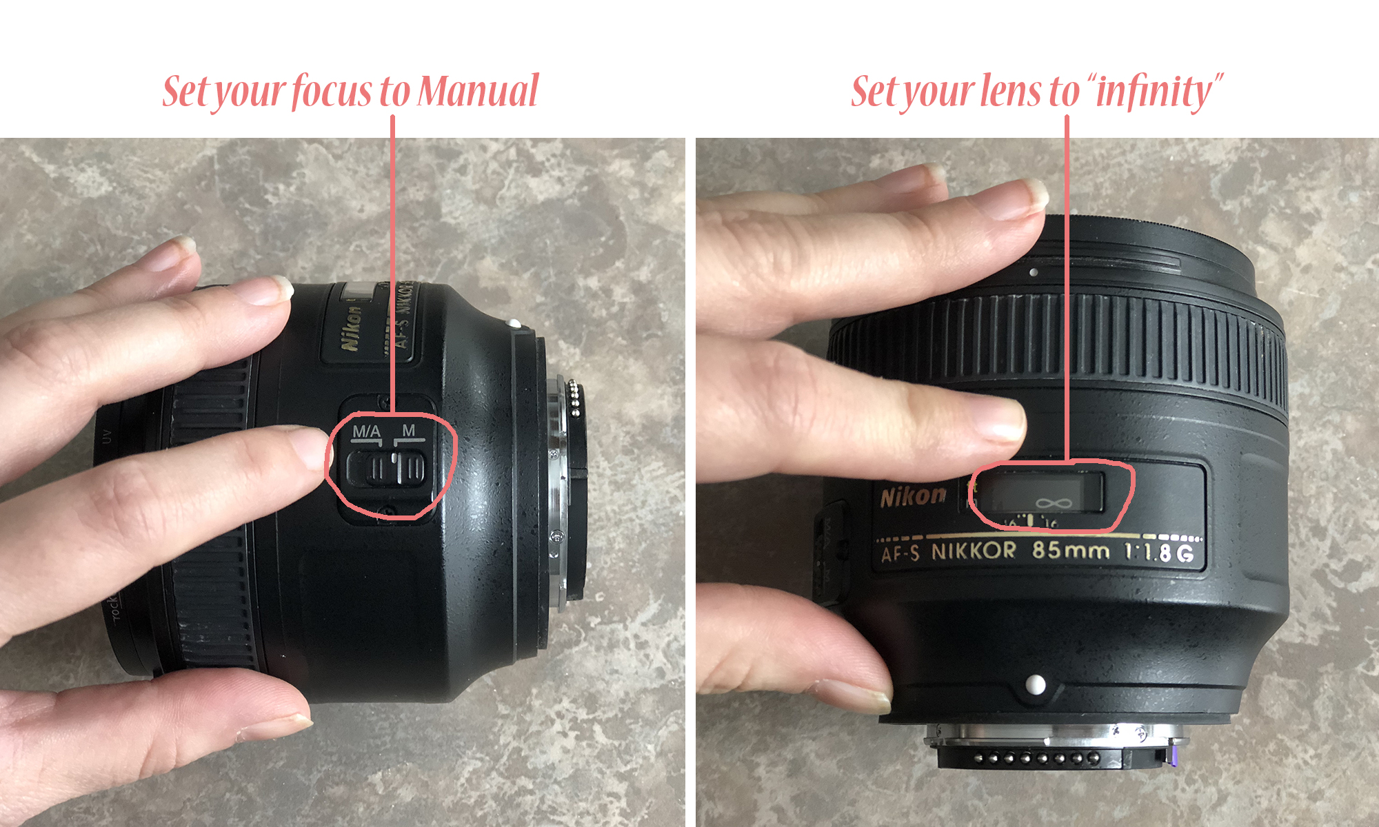 setting your lens