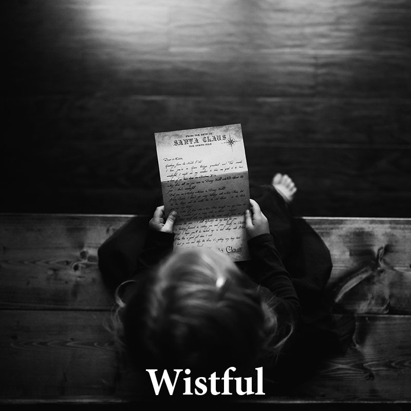 Wistful: Moody & mysterious, evoking emotion