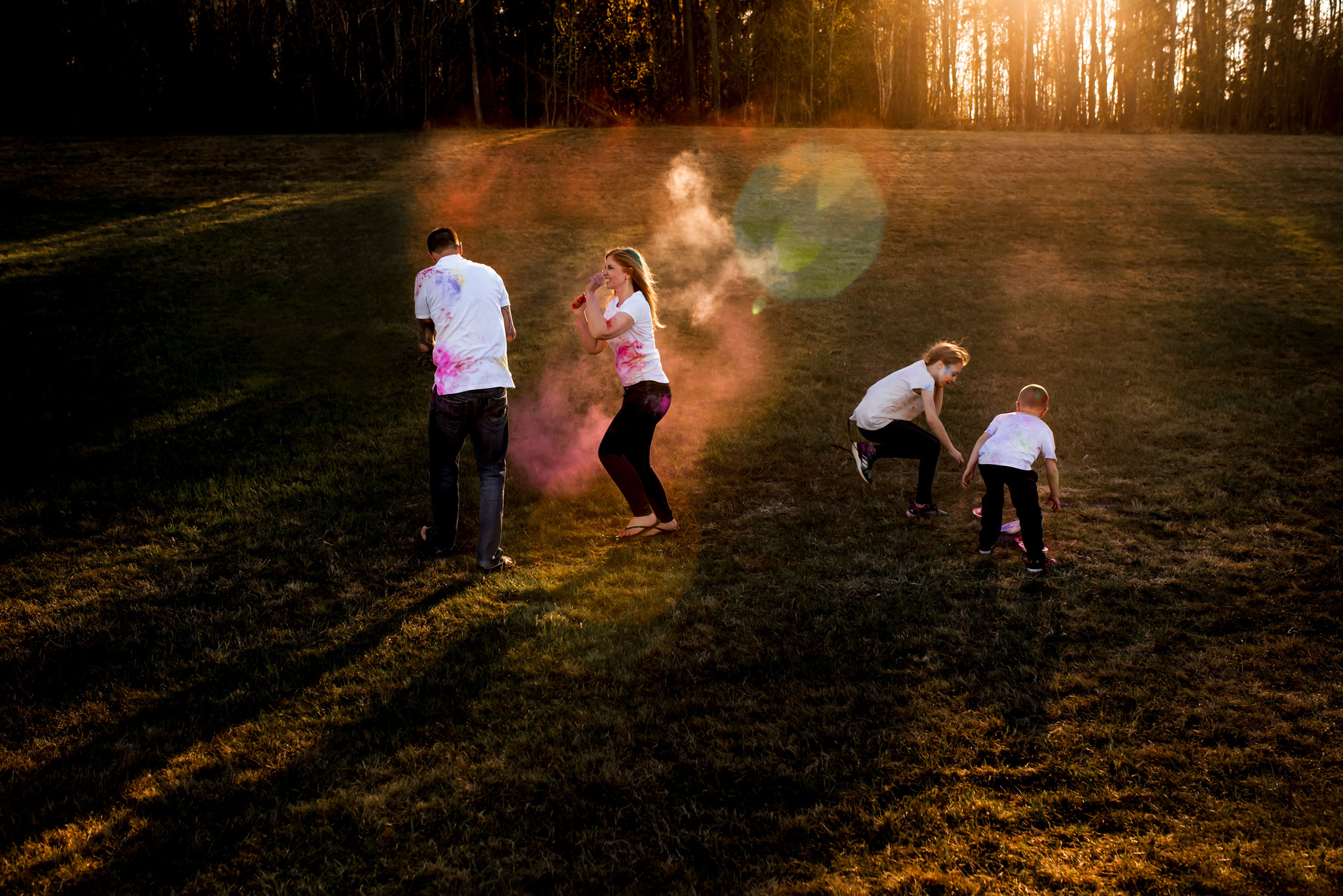 This is a self portrait with my family. I set up the tripod and the timer, and we had a crazy paint fight! I love that I was able to be in the frame, because I was there too! I have been trying to do this more lately to ensure I have captured some moments with myself and my little family.