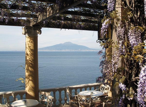 Mt. Vesuvius, as it would have appeared to Pliny the Elder (23 ACE - 79 ACE) as seen from across the bay of Naples, although not with such a beautiful, clear blue sky...