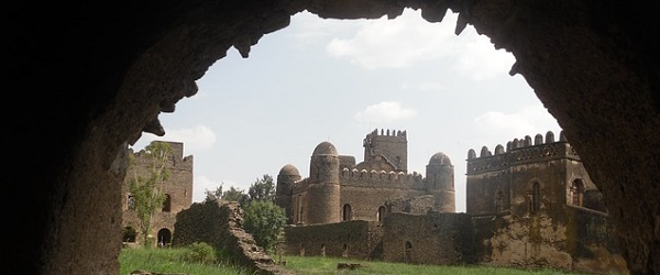 Fasil Ghebbi fortress and palace compound, in the Northern province of Gondar, the seat of Ethiopian emperors