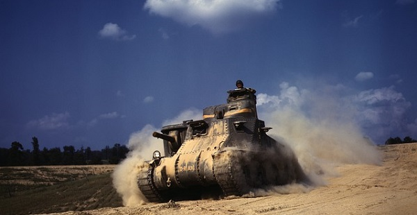The American M3 Tank, introduced at the the Battle of Gazala in May 1942, surprised the Germans and Italians with its greater range, considerable firepower and good armor. Tank warfare highlighted the growing importance of logistics, resource management, and support, these machines required.