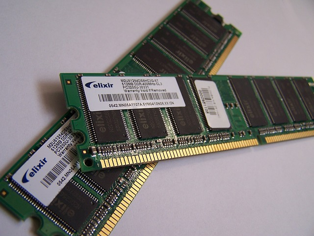 Common computer memory boards. Photo courtesy of pixabay.com.