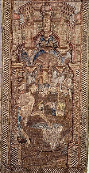 King Redbad refusing to be baptized. Open Image License (By Sonty567 - http://www.collectieutrecht.nl/view.asp?type=object&id=238, Public Domain, https://commons.wikimedia.org/w/index.php?curid=5224938)