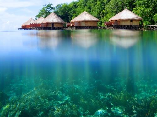 Raja Ampat above and below water - Guest accommodation at the MahaRaja Eco Dive Lodge