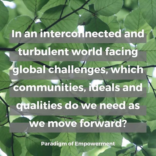 A powerful question - one we must ask ourselves, our communities, our organisations, our governments and our children more often. 🌱 If you would like to explore questions like these, then our April event on Thurs 25th is for you, Catalysing Conversations for World Earth Day. 🌱 Held at the beautiful @42acresretreat in Shoreditch, we're going to catalsye our commitment to change 👉 http://bit.ly/TriggerWorldEarthDay 🌱 Thank you Paradigm of Empowerment for fuelling our inspiration 🙏 . . . #WorldEarthDay #sustainability #environment #climatechange #plasticfree #socialenterprise #socialdisruption #conciousness #community #ecosystem #connection #OneWorld #power #empowerment #catalyzer #question #conversationstarter #importantquestions #philosophy #fridaysforfuture