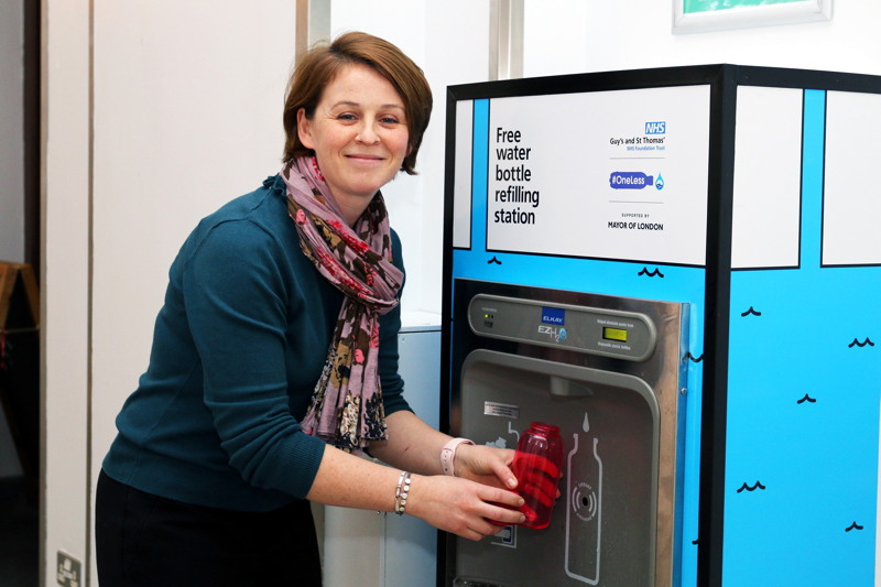 Four new water refill stations installed at Guy's and St