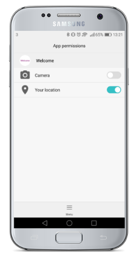 Location Settings Screen in Android Phones