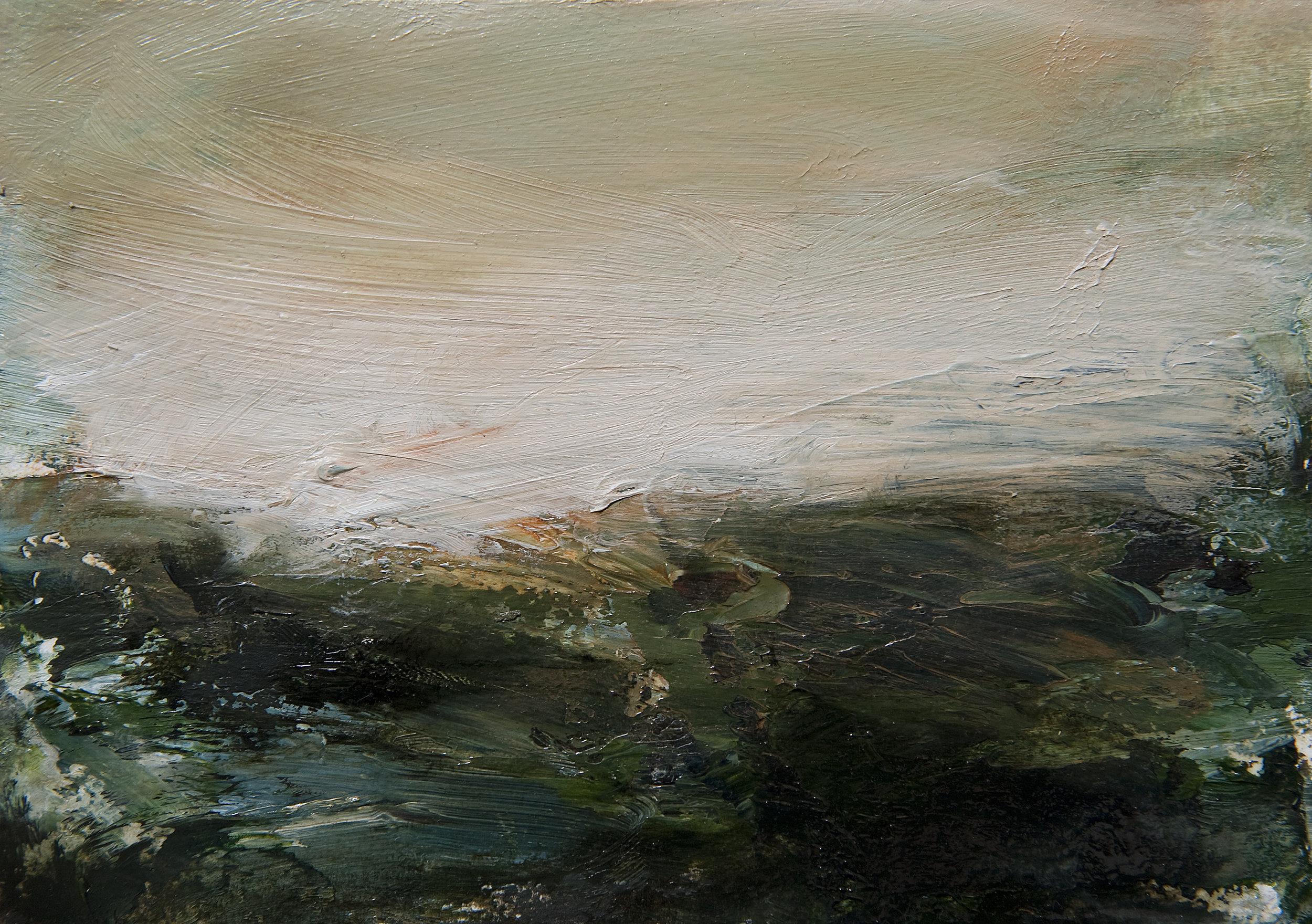 Lands oil on paper 15cm x 20cm 2013