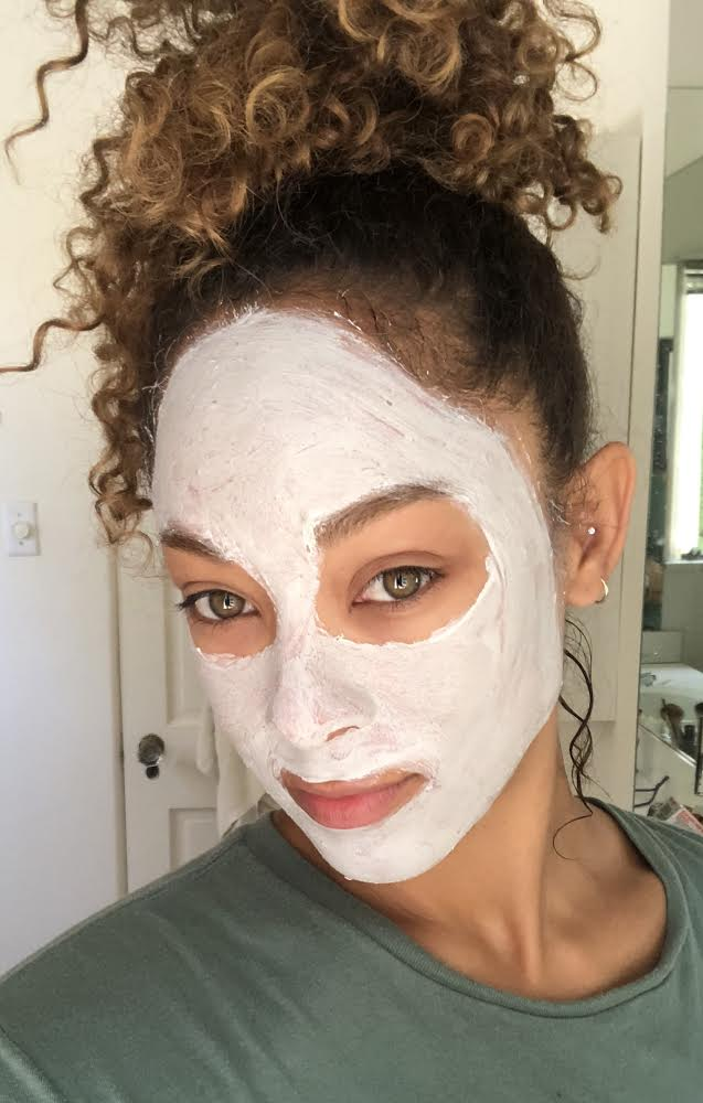 #SkinBabe Chaley Rose mixed Sephora's green and grey clay masks here for some self-care.