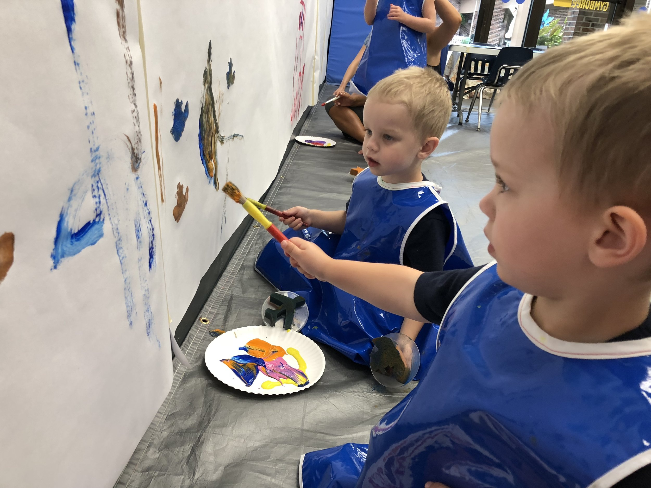 Andrew & Colin LOVE the variety of classes at Gymboree Carmel.