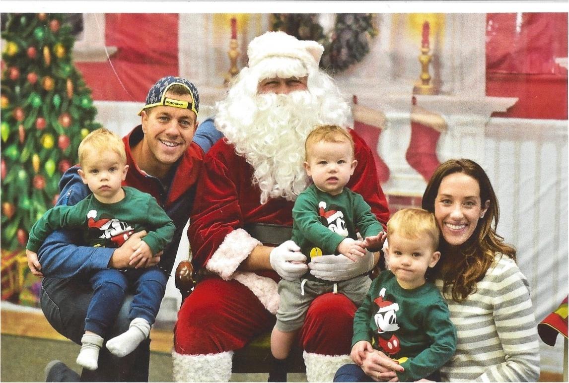 Visiting Santa at Gymboree Carmel's Holiday Event!