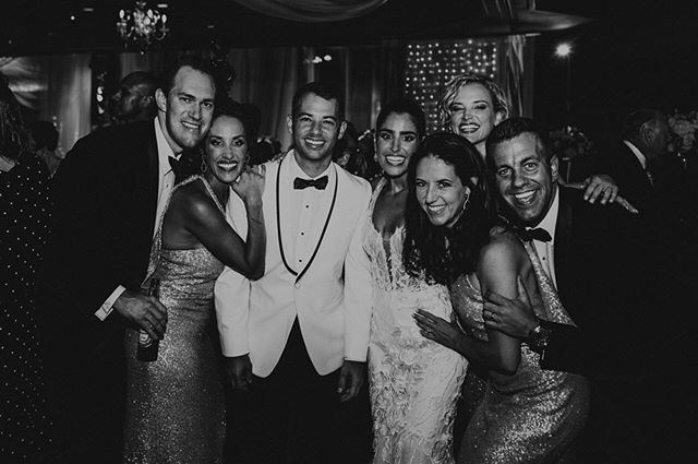 #tbt to a night of love, laughter and dancing! ✨ Thankful this is my forever crew 🖤 #johnandgtakeac 📸 :: @stintography