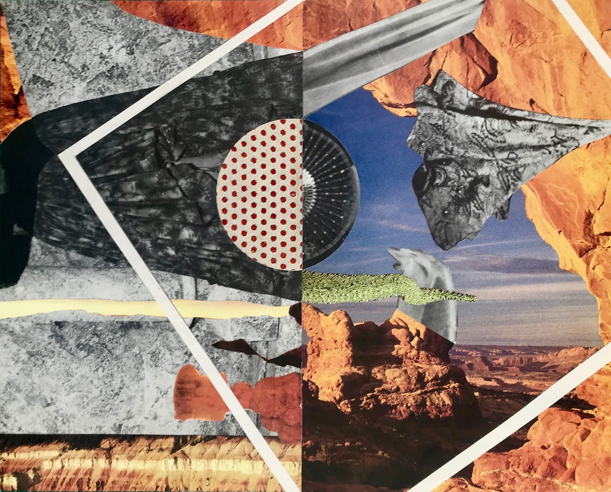 "Collage (Horizon)  from  Ulterior Landscapes 8"" x 10"" 2018"