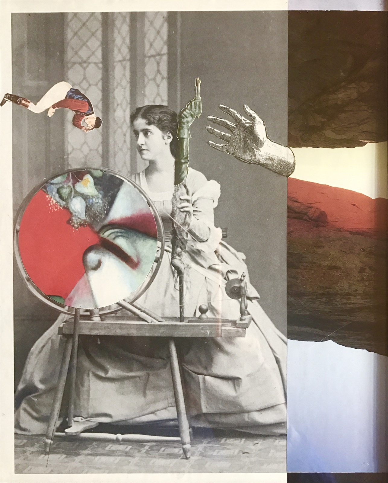 "Collage (Spin)  from  Opera.Ballet.Circus 9 "" x12"" 2017"