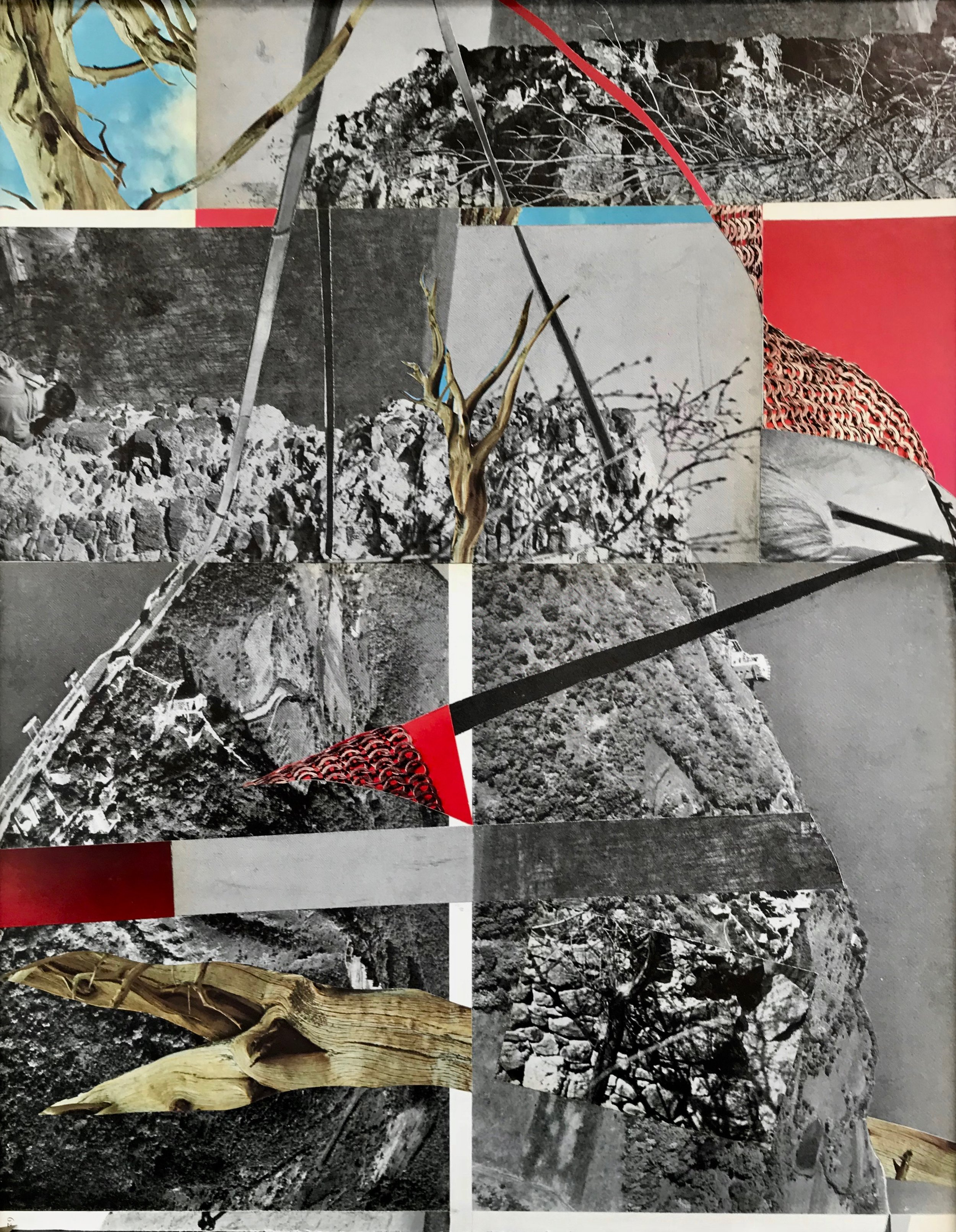 "Collage (Coast)  from  Ulterior Landscapes 11"" x 14"" 2018"