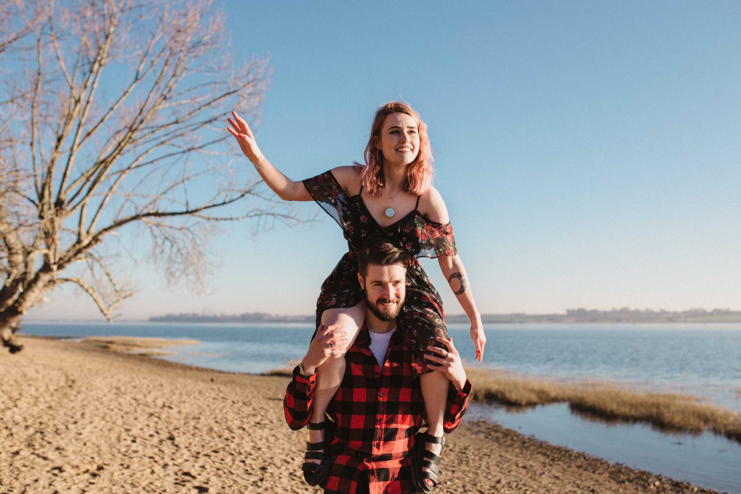 I always wear my Doc Martens so naturally I wore them to our shoot! Photo of us by  Emily Tyler Photography.