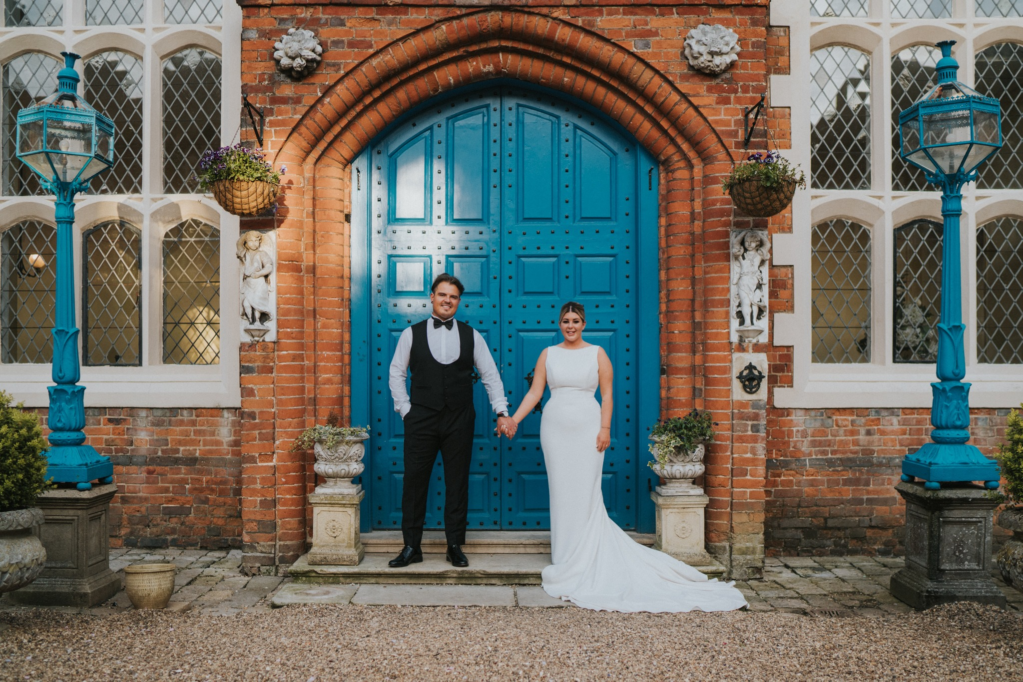 chloe + dan - After what seemed like an eternity, searching through over to 100 photographer's websites, I came across Grace. Right from the outset Grace captured my attention, not just from her amazing photos and natural talent but by her friendly and outgoing personality. Following my initial enquiry through Grace's website, rather than communicate through screen, she arranged a convenient time to give me a call and just have a chat. This was not a sales pitch! Grace simply got to know me and explained a little more about her and her work, and before I knew it, it felt like two old friends just having a catch up!Following this, after stalking Grace's work for some weeks, I knew I just had to have her! Grace was soo lovely and flexible and tailored a photography package to suit our needs and budget. We also decided to book pre-wedding shoot with Grace, which was one of the best things we've ever done. This gave us the opportunity to meet up with Grace in person, which definitely helped my fiancé as he was a bit camera shy to say the least. Grace even suggested that we bring our dog Nelly along, which we was absolutely delighted about! Within seconds of meeting Grace my partner and I felt instantly at ease, bouncing off her bubbly energy and kind nature, she made us feel so relaxed and turned what we thought might be an awkward photo shoot session in to a fantastically fun filled afternoon. The shoot felt so natural and Grace made us both feel so comfortable.As for our wedding day, where do I begin? As soon as Grace arrived she got stuck in, even going above and beyond her photographer duties and helping us move boxes, flowers and dresses to where they needed to be. Grace fitted in to the day just perfectly and felt more like an old friend and wedding guest rather than the photographer. Even in my minor times of brief panic on the day Grace was there with her comforting and bubbly personality to reassure me. Grace's planning and precision of the day was incredible, 