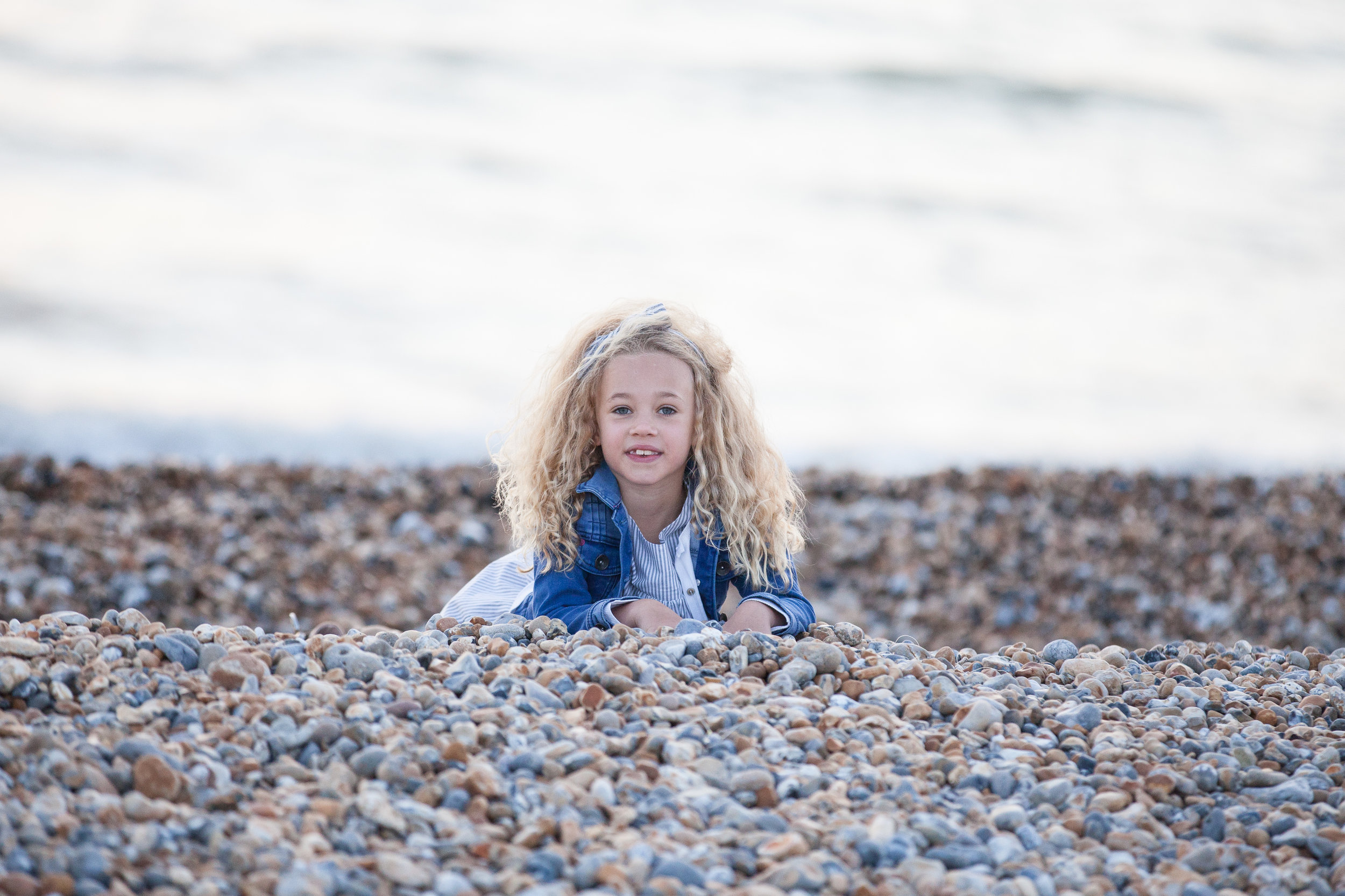 Ella on the beach. Seaford East Sussex
