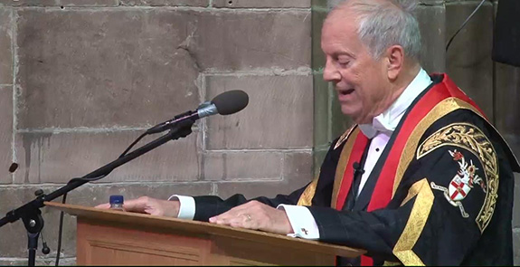 Gyles speaking at the University of Chester